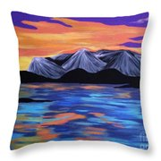 Majestic Mountains Throw Pillow