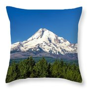 Majestic Mt. Hood Throw Pillow