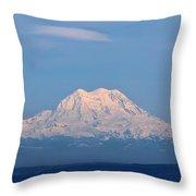 Majestic Mt. Rainier Throw Pillow