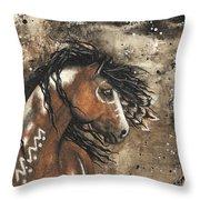 Majestic Mustang Series 61 Throw Pillow
