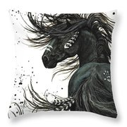 Majestic Spirit Horse  Throw Pillow by AmyLyn Bihrle