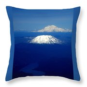 Majestic Northwest Mountains And The Mighty Columbia River Throw Pillow