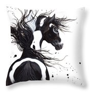 Majestic Pinto Horse Throw Pillow