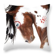 Majestic Pinto Horse 129 Throw Pillow