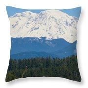 Majestic Rainier Throw Pillow