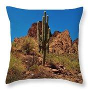 Majestic Saguaro Throw Pillow