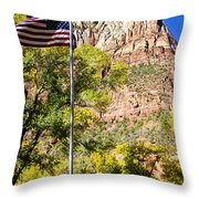 Majestic Sight - Zion National Park Throw Pillow