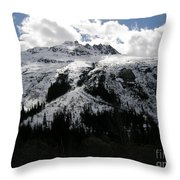 Majestic Skagway Mountaintop Throw Pillow