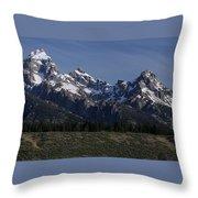 Majestic Tetons Throw Pillow