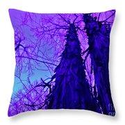 Majestic Tree Of Wild Texture Throw Pillow