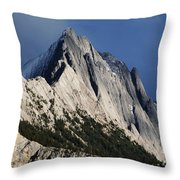Majesty In The Canadian Rockies Throw Pillow