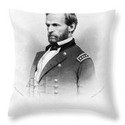 Major General William T Sherman Throw Pillow