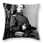 Major General Winfield Hancock Throw Pillow