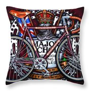 Major Nichols Throw Pillow by Mark Howard Jones