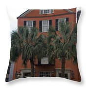 Major Peter Bocquet House Charleston South Carolina Throw Pillow