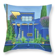 Majorelle Gardens, Marrakech Throw Pillow