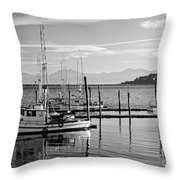 Makah Tribal Trawlers  Throw Pillow