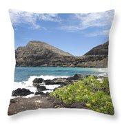 Makapuu Beach Throw Pillow