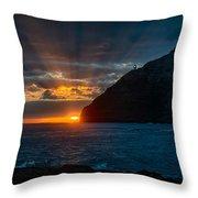 Makapuu Sunrise Throw Pillow