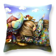 Make A Wish Throw Pillow by Karin Taylor