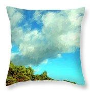 Makena Beach Maui Throw Pillow