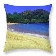 Makena Beach Maui Hawaii Throw Pillow