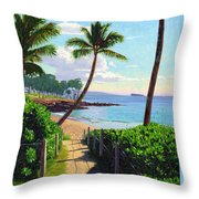 Makena Beach - Maui Throw Pillow