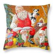 Making A List Checking It Twice Throw Pillow