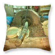 Making Of Argon Oil Throw Pillow