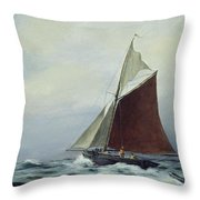 Making Sail After A Blow Throw Pillow by Vic Trevett