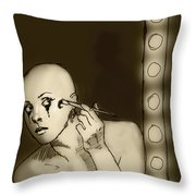 Making Up Throw Pillow
