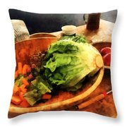 Making Waldorf Salad Throw Pillow by Susan Savad
