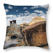 Makoshika State Park 6 Throw Pillow