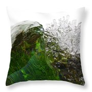 Malachite Water Throw Pillow