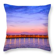 Malaga Pink And Blue Sunrise  Throw Pillow