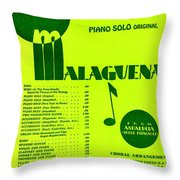 Malaguena Throw Pillow