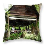 Malay Hut Throw Pillow