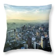 Malaysia Aerial Throw Pillow