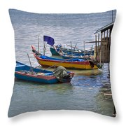 Malaysian Fishing Jetty Throw Pillow