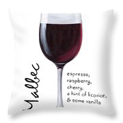 Malbec Throw Pillow