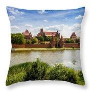 Malbork Castle Throw Pillow