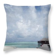Maldives Throw Pillow