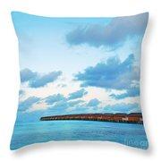 Maldives Resort Throw Pillow