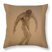 Male Croquis Throw Pillow