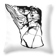 Male Figure Abstraction Throw Pillow
