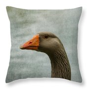 Male Graylag Goose Profile Throw Pillow by Denyse Duhaime