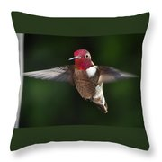 Male Redhead In Flight Throw Pillow