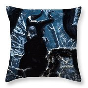 Maleficent In Winter's Woods Throw Pillow