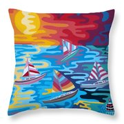 Malibu Throw Pillow by Anthony Morris