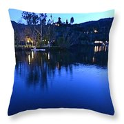 Malibu Lake Soft Focus Throw Pillow